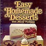 Easy Homemade Desserts With Jell-O Pudding Dated 1979