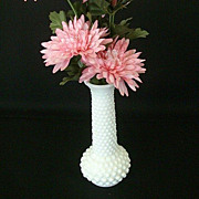 Milk Glass Hobnail Bud Vase ~ Signed Brody
