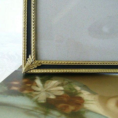 Ornately Designed Vintage Brass Filigree Photo Frame