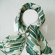 Brilliant Colors Splashed on Ruffled-Edge Neck Scarf