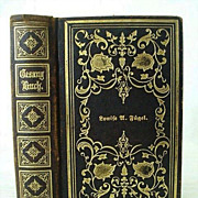 SALE Gold Embossed 1866 Personalized German Lutheran Song Book