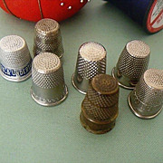 Advertising Thimbles - Undertaker & Prudential