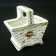 Pico Occupied Japan Ceramic Basket - 1940's
