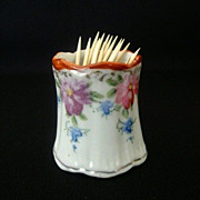 Colorful Hand Painted Toothpick Holder