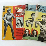 Daniel Boone Comic Books With Fess Parker Dated 1960's