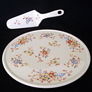 SALE Vintage Japanese Cake Plate And Matching Server