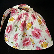1950's Cotton Skirt Of Pink Roses
