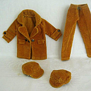 Vintage 1960's Corduroy Coat Slacks & Two Hats
