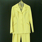 SALE Bright Yellow Western Style Pants-Suit With Bell Bottoms