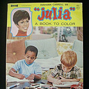 Coloring Book Features 'Julia' (Diahann Carroll) - 1960's