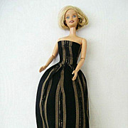 Striped Strapless Dress Home Fashioned Barbie-Style