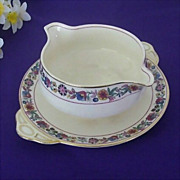 SALE Johnson Brothers Bagatelle Gravy Bowl With Underplate