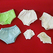 Six Doll Panties - Assorted Sizes