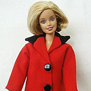 Hong Kong Barbie Red Jacket With Velvet Collar