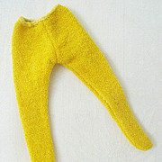 Bright Yellow Knit Tights - Untagged