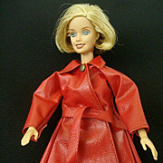 Barbie-Style Red Vinyl Raincoat