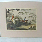 SALE Sam Howitt Fox Hunt Prints First Published in 1808