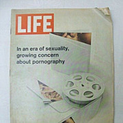 SALE 1970 Life Magazine: Sexuality & Pornography