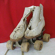 Childs Roller Skates With Wood Wheels By Arrow