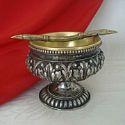 Fanciful Vintage  Ashtray With Brass Bowl