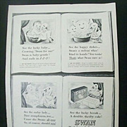 SALE Wartime Full Page Advertisement for Swan Soap