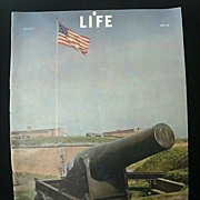 SALE War-Time Life Magazine  Honors July 4th  1942 With National Anthem
