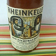 SALE German Salt Glaze Rheinkeller Wine Bottle