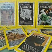 SALE National Geographic Eight Issues 1965