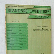 Piano Lesson Book Classical Standard Overtures