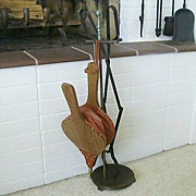 SALE Fireplace Log Tongs And Working Bellows