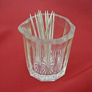 EAPG Ribbed Glass Toothpick Holder Or Creamer