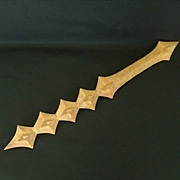 Polynesian Toothed Ceremonial War Club