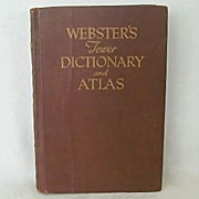 Websters Tower Dictionary & Atlas 1946