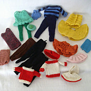 Grandmother Knitted Doll Clothes For Barbie