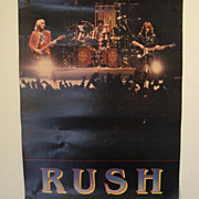 1970's Canadian Rock Band Rush Poster