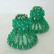 Beaded Safety Pin Candle Holders Dated 1960's