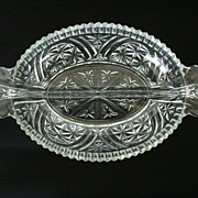 SALE Anchor Hocking Stars & Bars Divided Relish Dish