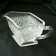Diamond Shaped Sandwich Glass Creamer