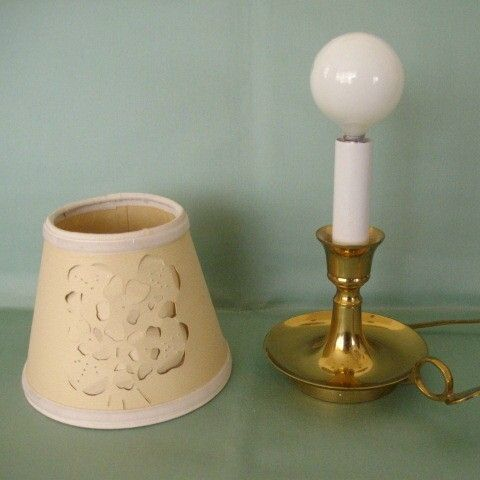 Small Bedroom Lamp With Cut-out Shade