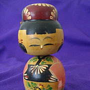 SALE Still Colorful 1940's Japanese Kokeshi Nodder