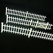 Doll House White Picket Fence - Six Sections