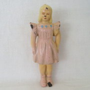 1950's Molded Hard Plastic Girl Figure