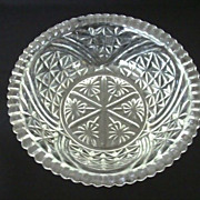 SALE Anchor Hocking Stars & Bars Pressed Glass Serving Bowl