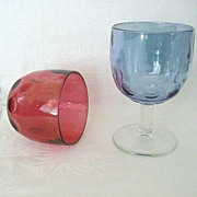 SALE Matching 1960's Buttermilk Style Goblets Or Vases