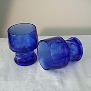 SALE Matching Cobalt Blue Georgian Tumblers