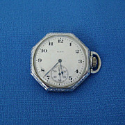 Working 1921 Elgin Octagonal Watch