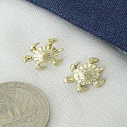 Matching Pair Tiny Turtle Pins By Nemo
