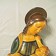 Religious Statue of The Virgin Mary Holding Baby Jesus
