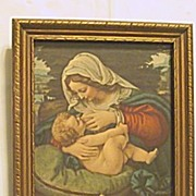 Rest on the Flight into Egypt  Mary Breastfeeding Baby Jesus  Print