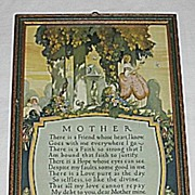 SALE Special Buckbee Brehm Mother Motto Print